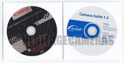 Original Instruction Manuals and Software CDs for Canon PowerShot A60 and A70 Digital Cameras